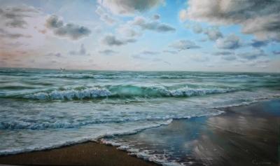 Картина «Голубизна небес и моря» ПРОДАНО