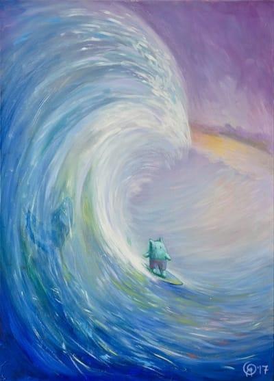 Картина для детской комнаты «Большая волна» купить картину маслом Киев