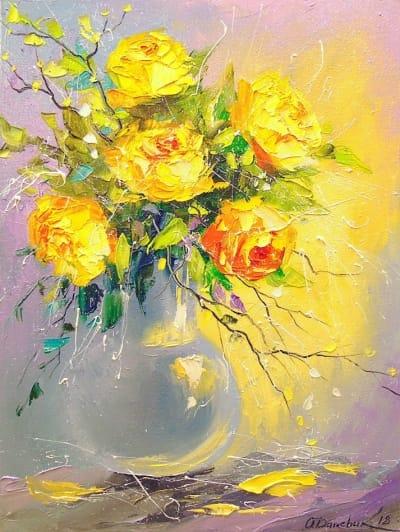 Картина «Букет желтых роз»
