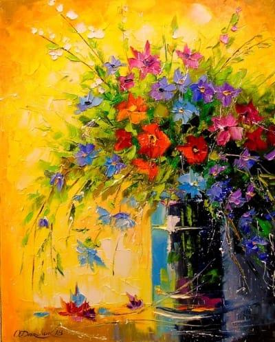 Картина «Букет луговых цветов» 3