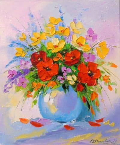 Картина «Букет луговых цветов» 2