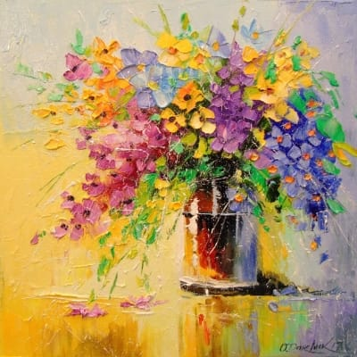 Картина «Букет полевых цветов» 2
