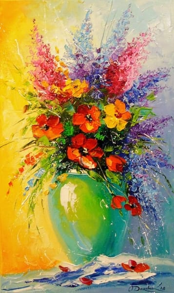 Картина «Букет полевых цветов» 3