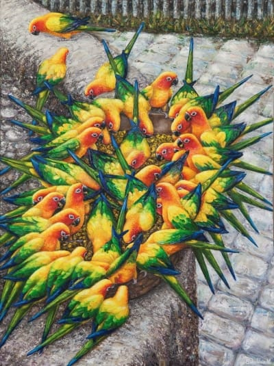 Картина «Букет попугаев»
