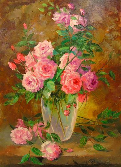 Картина «Букет роз в вазе»