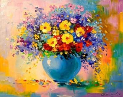 Картина «Букет утренних цветов»