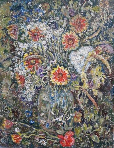 Картина «Букет» купить живопись цветы для современных интерьеров Украина