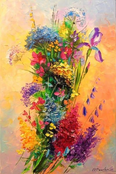 Картина «Букет ярких цветов»