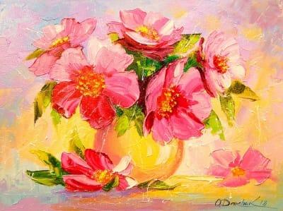 Картина «Букет ярких цветов» 2