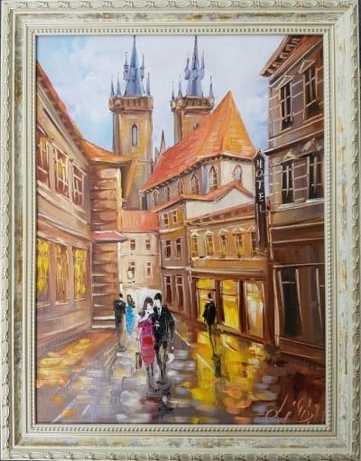 Картина «Чарующие виды Праги» в раме
