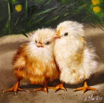 Картина «Цыплята - лапочки» - купить живопись для современных интерьеров Украина