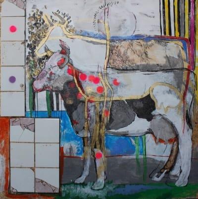 Картина для современных интерьеров абстракция «Cow dreams» купить живопись Киев