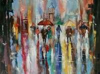 Картина «Цветные краски дождя»