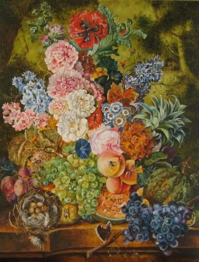 Картина «Цветочное изобилие» копия картины нидерландского художника Ян ван Хёйсум