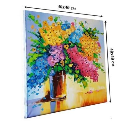 Картина «Цветы» купить живопись для современных интерьеров Киев