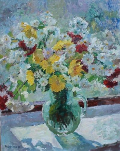 Картина «Цветы на окне»