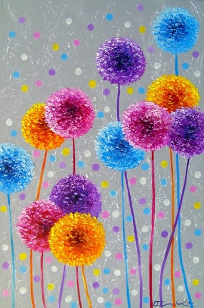 Картина маслом «Декоративный лук» - купить живопись для современных интерьеров Украина