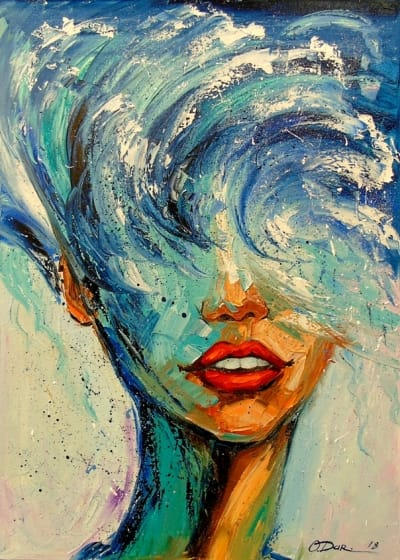 Картина «Девушка Волна»