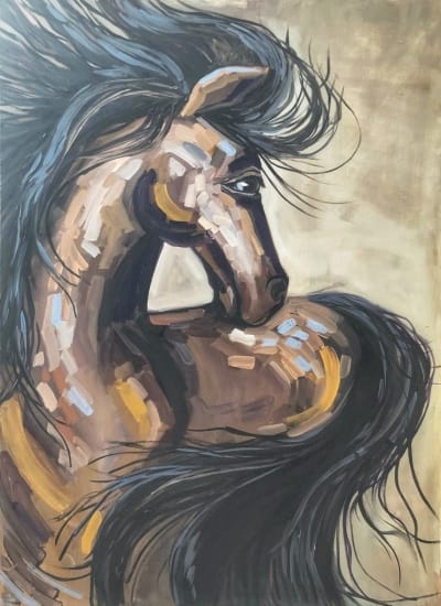 Картина «Дикая лошадь»