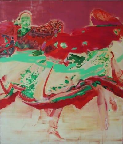 Картина диптих акрил «Танец» купить живопись для современных интерьеров Украина
