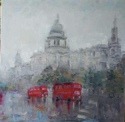 Картина «Дождь в Лондоне»