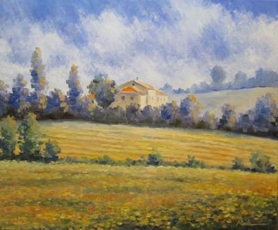 Картина «Дом на холмах»