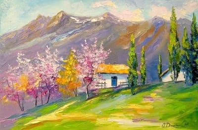 Картина «Домик в горах» 2