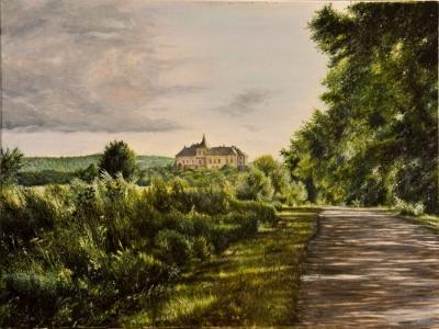 Картина «Дорога в замок» (Олесько)