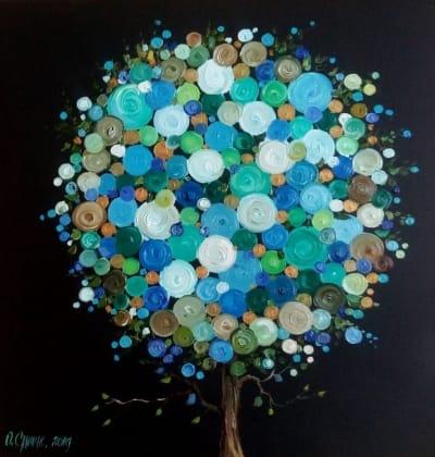 Картина «Дерево Жизни» купить живопись для современных интерьеров Украина