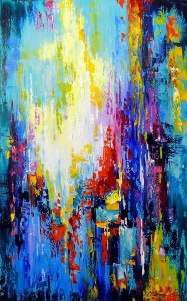 Абстрактная картина «Движение энергий» купить живопись для современных интерьеров Украина