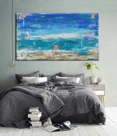 Картина абстракция для современных интерьеров «Fethiye» купить живопись Киев