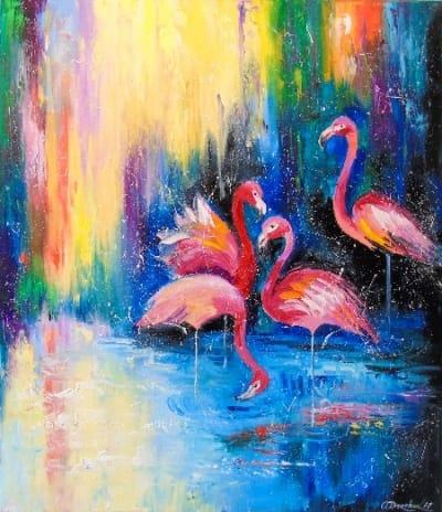 Картина «Фламинго» 3