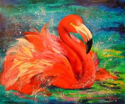 Картина «Фламинго»