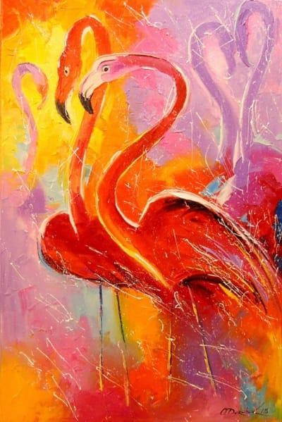 Картина «Фламинго» 4