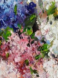 Картина маслом цветы «Сирень» купить современную живопись Украина