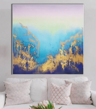 Абстрактные картины морской пейзаж «Из глубины» купить картину для современного интерьера