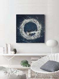 Абстрактная картина «Галактика» - купить живопись для современных интерьеров Украина