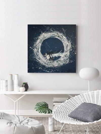Абстрактная картина «Галактика» купить живопись для современных интерьеров Украина
