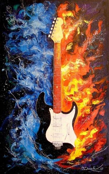 Картина маслом «Гитара» - современная живопись Украина