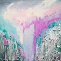 Картина маслом абстракция Киев «Нежная глубина» купить живопись Украина