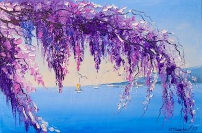 Картина «Глициния у моря» 2
