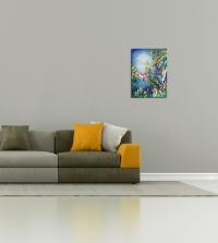 Картина птицы «Глубина неба» картины для современных интерьеров Киев