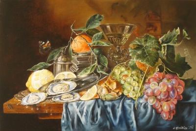 Картина «Голландский натюрморт с устрицами» - купить живопись для современных интерьеров Украина