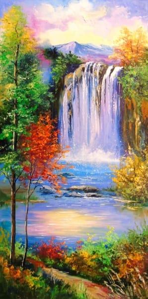 Картина «Горный водопад»