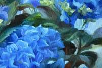 Картина цветы «Гортензия» купить живопись для современных интерьеров Украина