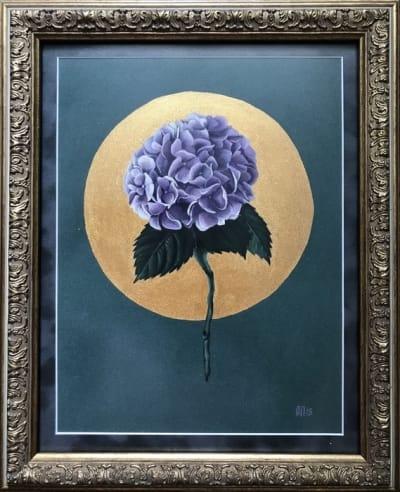 Картина цветы «Гортензия» купить живопись в Киеве для современных интерьеров