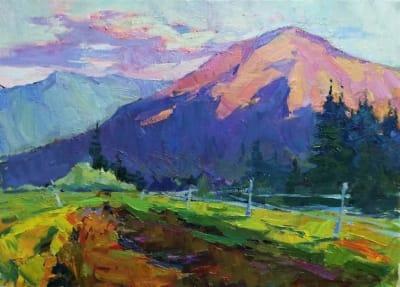 Картина «Горы в Славском»