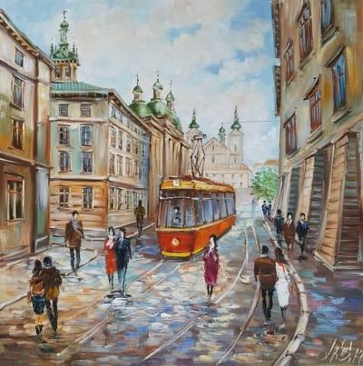 Картина «Гуляя улицами Львова»