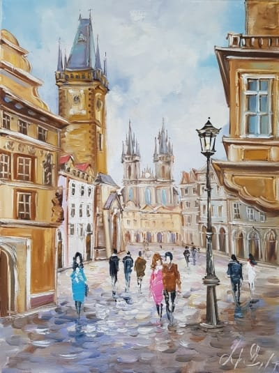 Картина «Гуляя улицами Праги»