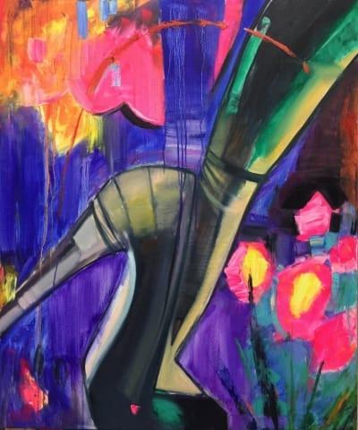 Картина маслом «Мир под каблуком» - современная живопись Украина